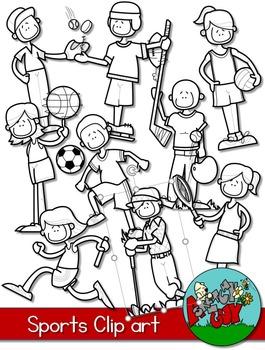 Sports Kids Clipart