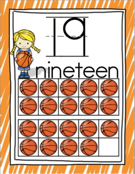 Sports Kids Number Cards