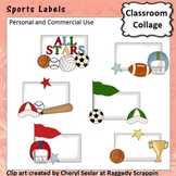 Sports Labels  - Color - personal & commercial use C Seslar