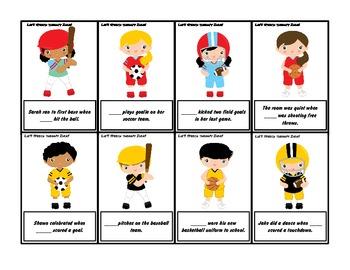 Sports Language Activity - Grammar