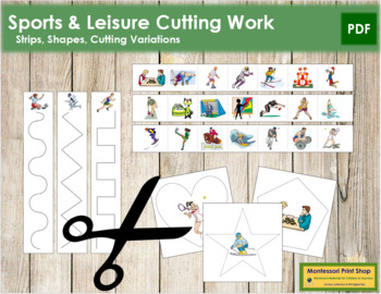 Sports and Leisure Cutting Strips - Scissor Practice