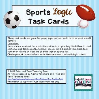 Sports Logic Task Cards
