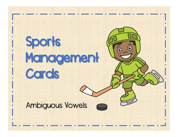 Sports Management - Ambiguous Vowels (au/aw, ou/ow, oi/oy) Target Cards