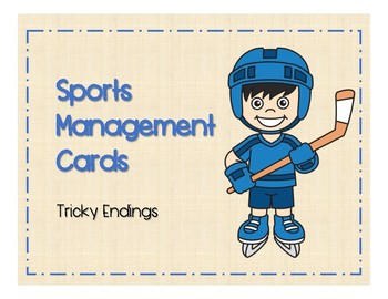 Sports Management - Tricky Endings (-ch/-tch, -ge/-dge) Target Cards