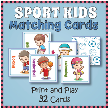 Sports Matching Card Memory Game