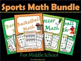 Sports Math Bundle for Middle School