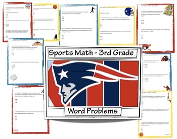 Sports Math - Third Grade Math Worksheets