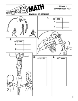 Sports Math Lesson 11 Division, Division on Offense, girls'  basketball
