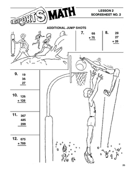Sports Math Lesson 2 Addition, Additional Jump Shots, boys' basketball