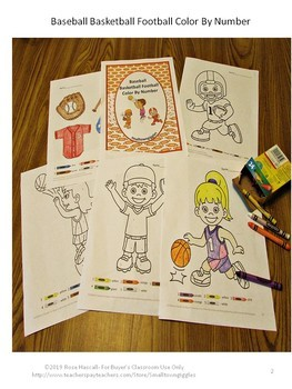 Sports Math and Literacy Bundle, Pre-K, K, Special Education, Autism