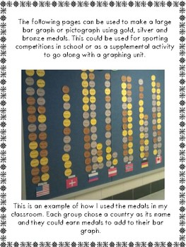 Winter and Summer Sports Medals Bulletin Board Set