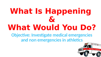 Sports Medicine Special Considerations Unit: 8 days of lessons