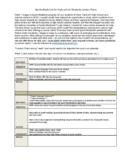 Sports Medicine Year Long Lesson Plans
