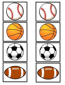 Sports Memory Matching Game