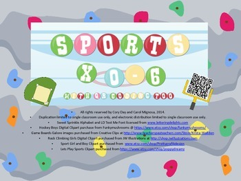 Sports Multiplication 0-6 with QR Coding too