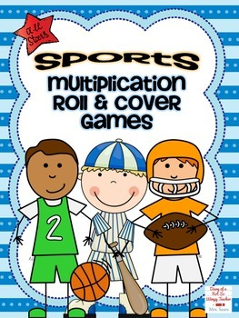 Sports Multiplication Roll and Cover Games