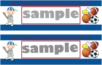 Sports Name Tags-Blue (Publisher)