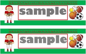Sports Name Tags-Green (PDF)