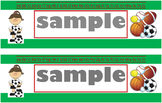 Sports Name Tags-Green (PDF)