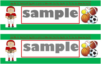 Sports Name Tags-Green (Publisher)