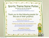 Sports Name Tags