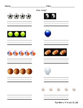 Sports Number Quantity 0-5
