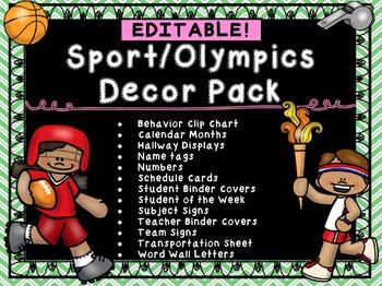 Sports Olympics Class Decor