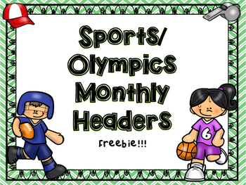 Sports Olympics Monthly Headers