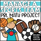 Sports PBL Math Project | Sports Team Project Based Learning
