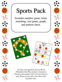 Preschool skills sports pack