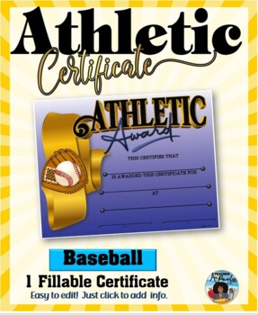 Certificate - Sports Participation …Baseball