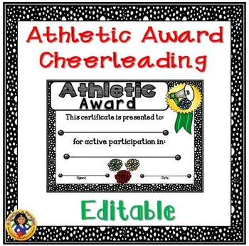 Sports Participation Certificate…Cheerleading