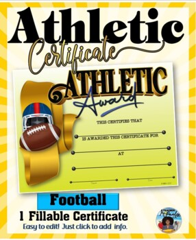 Certificate - Sports Participation …Football