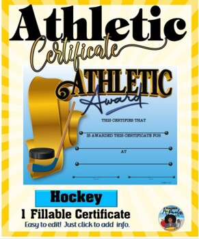 Certificate - Sports Participation …Hockey
