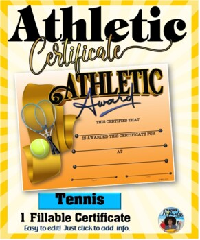 Certificate - Sports Participation …Tennis