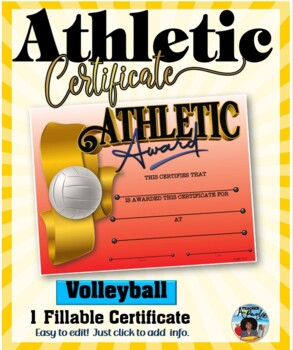 Certificate - Sports Participation …Volleyball