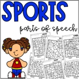 Sports Parts of Speech Coloring