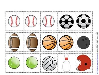 Sports Pattern Cards for Preschool, PreK and K