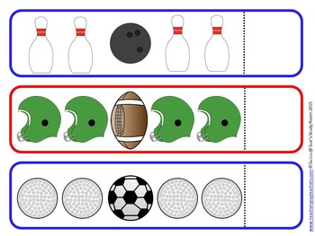 Sports Pattern Cards for Preschool, PreK and K