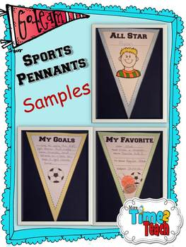 Sports Pennants {Great for Back to School}
