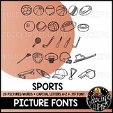 Sports Picture Font {Educlips Clipart}