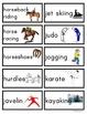 Sports Picture and Word Flashcards