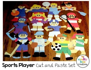 Sports Player Cut and Paste Set