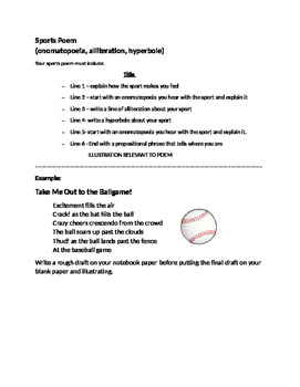 Sports Poem Formula and Example