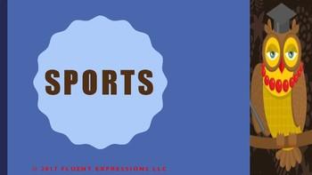 The Blue Cloud Bubble ESL Power Point Lesson-Sports