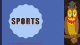 The Blue Cloud Bubble ESL PDF/PowerPoint Lesson-Sports