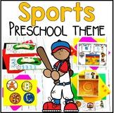 Sports Preschool Theme- Math, Literacy, and Writing Centers