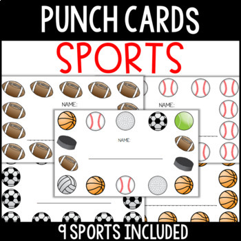Sports Punch Cards