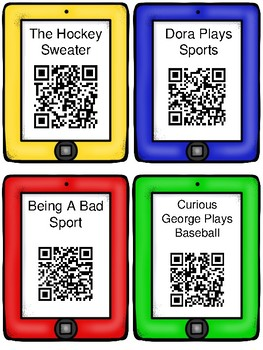 Sports QR Code Read Aloud Listening Centers