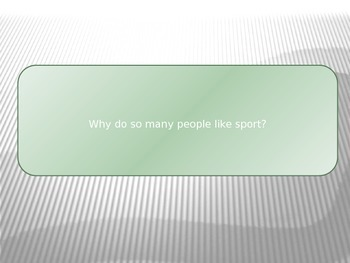 Sports Questions - Chat Class